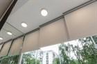 Расстояние между рулонными шторами