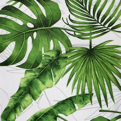 рулонные шторы с тропическим принтом фото