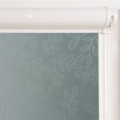 Рулонная штора в коробе, Сакура, цвет синий (сизый) - фото 8013