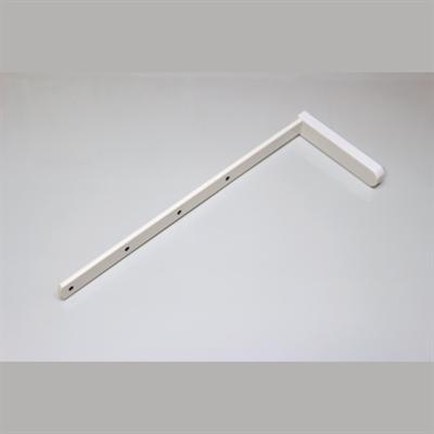 Кронштейн металлический (20 см), цвет белый - фото 8395