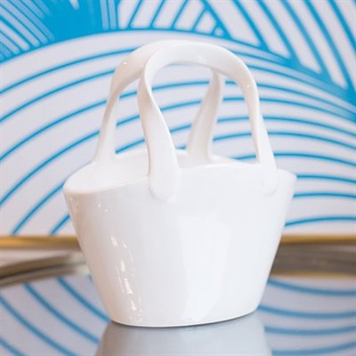"""Керамическая ваза в форме сумочки """"Сноуфлейк"""" - фото 8577"""
