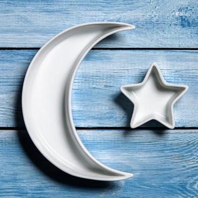 Керамические тарелочки-кашпо в форме луны и звездочки - фото 8588