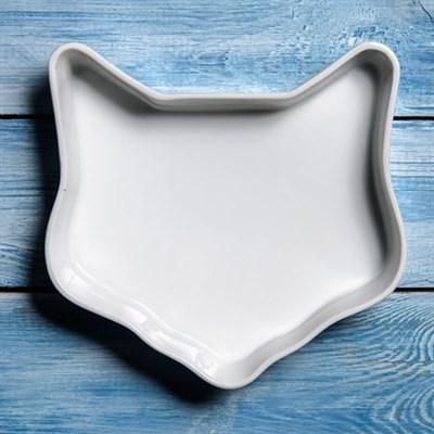 Керамическая тарелочка-кашпо в форме мордочки кошки - фото 8590