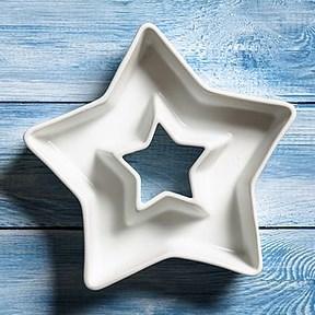 Керамическая тарелочка-кашпо в форме звезды - фото 8592