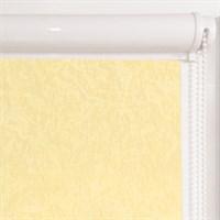 Рулонная штора в коробе, Жаккард, цвет желтый