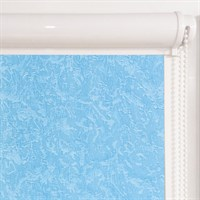 Рулонная штора в коробе, Жаккард, цвет синий