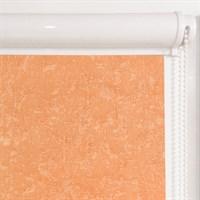 Рулонная штора в коробе, Жаккард, цвет оранжевый