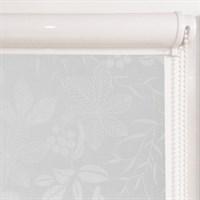 Рулонная штора в коробе, Флауэр, цвет белый