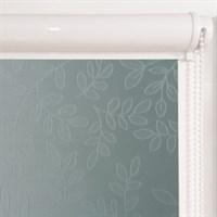 Рулонная штора в коробе, Сакура, цвет синий (сизый)