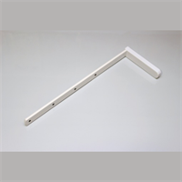 Кронштейн металлический (20 см), цвет белый